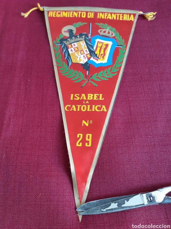 BANDERIN REGIMIENTO DE INFANTERIA ISABEL LA CATOLICA NUMERO 29 (Coleccionismo - Banderines)
