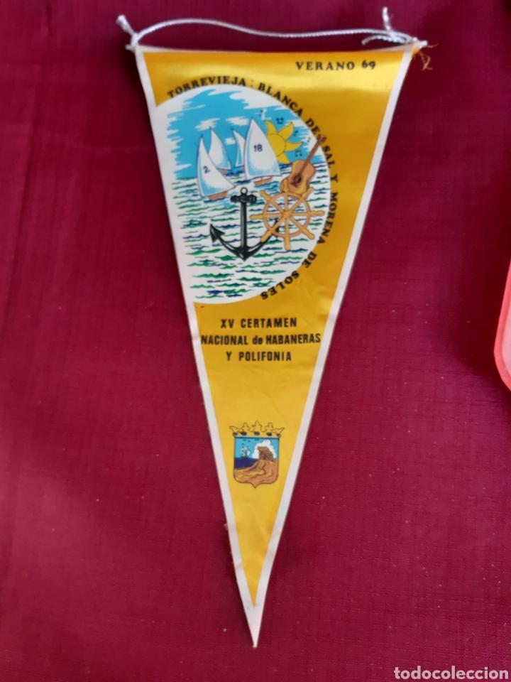 BANDERIN VERANO 69, TORREVIEJA, XV CERTAMEN NACIONAL DE HABANERAS Y POLIFONIA (Coleccionismo - Banderines)