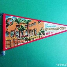 Banderines de colección: BADALONA R.R. ADORATRICES BODAS DE ORO 1917-1967 BANDERIN PLASTIFICADO. Lote 227578311