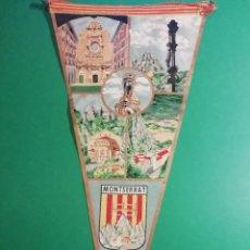Banderines de colección: MONTSERRAT GRAN BANDERIN DE TEJIDO ESTAMPADO. Lote 227588570