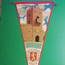 Banderines de colección: MONASTERIO DE PIEDRA - TORRE DEL HOMENAJE GRAN BANDERIN DE TEJIDO ESTAMPADO. Lote 227589075