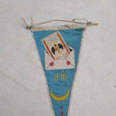 Banderines de colección: BANDERIN DE IFNI, 1958 ( PUBLICIDAD CAJA POSTAL DE AHORROS ). Lote 228210405