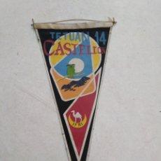 Banderines de colección: BANDERIN IFNI, TETUAN 14 CASTELLÓN. Lote 228211805
