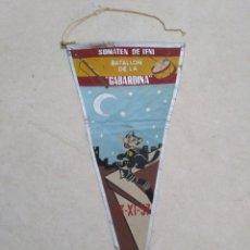 Banderines de colección: BANDERIN IFNI, SOMATEN DE IFNI, BATALLÓN DE LA GABARDINA, 23/XI/57. Lote 228213435