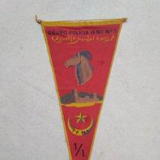 Banderines de colección: BANDERIN IFNI, GRUPO POLICÍA IFNI NÚMERO 1. Lote 228213785