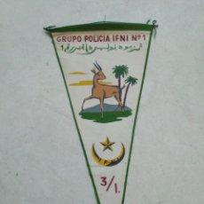 Banderines de colección: BANDERIN IFNI, GRUPO POLICÍA IFNI NÚMERO 1. Lote 228214115