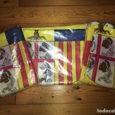 Banderines de colección: LOTE TRES BANDERAS GRANDES DE ARAGÓN ( ESPAÑA ) OFICIALES AYUNTAMIENTO DIPUTACIÓN 150 X 100 NUEVAS. Lote 232013130