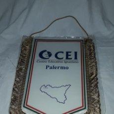 Banderines de colección: BELLO GRAN BANDERÍN CEI CENTRO EDUCATIVO IGNAZIANO PALERMO COLEGIO JESUITA. Lote 235591895