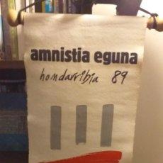Bandierine di collezione: BANDERIN DEL AMNISTIA EGUNA 1989. Lote 235880175