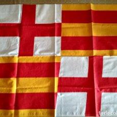 Banderines de colección: BANDERA SENYERA BARCELONA CREU DE SANT JORDI. Lote 238266240