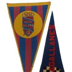 Banderines de colección: BANDERINES SOLERA FUTBOL BARCELONA Y MAGALLANES. Lote 231237255