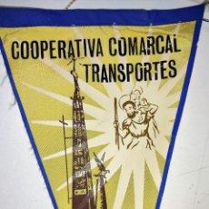 Banderines de colección: BANDERIN COOPERATIVA COMARCAL TRANSPORTES DE TORTOSA (TARRAGONA) AÑO 1967. Lote 240883440