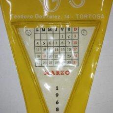 Banderines de colección: BANDERIN CON MES DE CALENDARIO LA OPTICA ECONOMICA DE TORTOSA (TARRAGONA) AÑO 1968. Lote 240884120