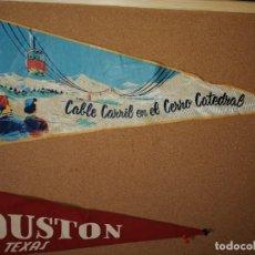 Banderines de colección: BANDERÍN TELA. CABLE CARRIL EN EL CERRO CATEDRAL. 48,2CM DE LARGO. Lote 241183370