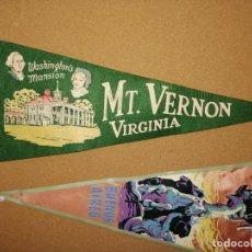 Banderines de colección: BANDERÍN DE FIELTRO MT. VERTON. VIRGINIA. 45,5CM DE LARGO.. Lote 241183855