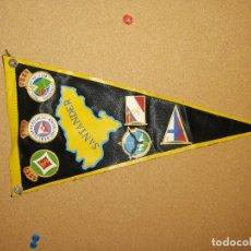 Banderines de colección: BANDERÍN TELA PLASTIFICADA. 28CM DE LARGO. SANTANDER. Lote 241189510