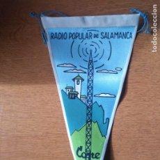 Bandierine di collezione: ANTIGUO BANDERÍN RADIO POPULAR SALAMANCA COPE. Lote 241734785