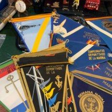 Bandierine di collezione: 18 BANDERINES CAMPEONATOS DEPORTIVOS DE LA MARINA DESDE 1969 A 1967. Lote 246049040