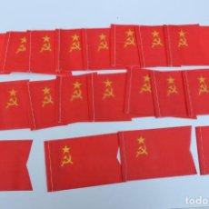Banderines de colección: LOTE DE 20 BANDERINES ANTIGUOS PARA BICICLETA, AÑOS 70, ANTIGUA U.R.S.S.. Lote 246860505