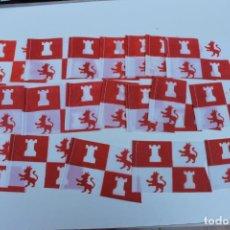 Banderines de colección: LOTE DE 20 BANDERINES ANTIGUOS PARA BICICLETA, AÑOS 70, CASTILLA Y LEON. Lote 246861125