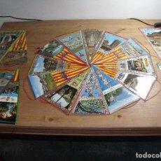 Banderines de colección: 20 BANDERINES AÑOS 60 LOCALIDADES TEMAS CATALUNYA CATALUÑA. Lote 248151945