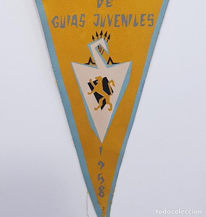 Banderines de colección: BANDERIN CURSO NACIONAL GUIAS JUVENILES 1958 CULTURAL (FALANGE FRENTE JUVENTUDES) 14,5 x 28 CM RARO - Foto 2 - 249044760