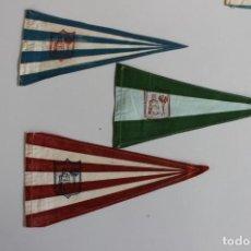 Banderines de colección: 3 BANDERINES CIUDAD DE VIGO ANTIGUOS AÑOS 70. Lote 251568840