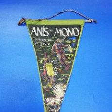 Banderines de colección: ANTIGUO BANDERIN. ANIS DEL MONO. MED: 26 X 14CM APROX.. Lote 252113460