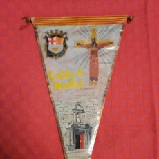 Banderines de colección: BANDERIN ANTIGUO CALDES DE MONTBUI CON SU ENVOLTORIO DE PLASTICO. Lote 253801315
