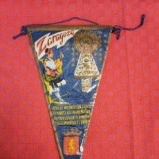 Banderines de colección: BANDERIN ANTIGUO ZARAGOZA CON SU ENVOLTORIO DE PLASTICO. Lote 253807815