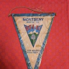Banderines de colección: BANDERIN ANTIGUO MONTSENY SANTA FE LES AGUDES 1706M III BELEN 1959 CON SU ENVOLTORIO DE PLASTICO. Lote 253812615