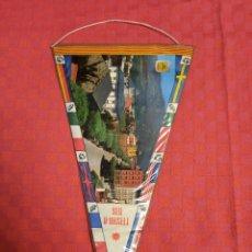 Banderines de colección: BANDERIN ANTIGUO SEU D'URGELL 1965 PLASTIFICADO. Lote 253816495
