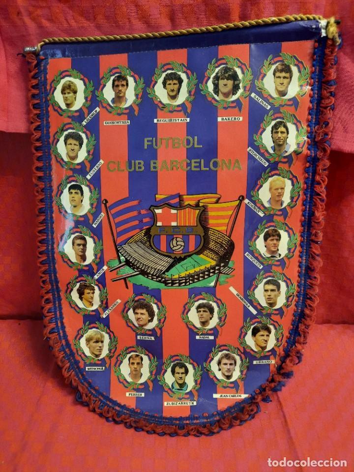 BANDERIN FUTBOL CLUB BARCELONA (Coleccionismo - Banderines)