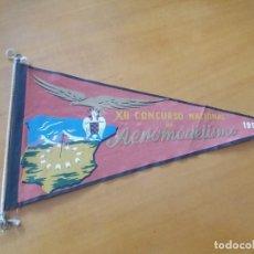 Banderines de colección: ANTIGUO BANDERÍN. XII CONCURSO NACIONAL DE AEROMODELISMO. 1955.. Lote 255535760