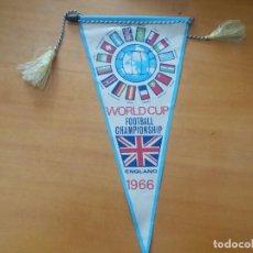 Banderines de colección: ANTIGUO BANDERÍN. COPA DEL MUNDO DE FÚTBOL. FOOTBALL CHAMPIONSHIP. 1966.. Lote 255536255