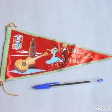 Banderines de colección: BANDERÍN DE TURISMO DE SEVILLA. VIVA SEVILLA Y OLÉ. Lote 256062225