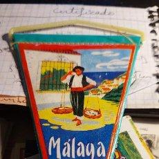 Banderines de colección: BANDERIN DE LA CIUDAD DE MALAGA MIDE 12X10CM. Lote 258179650