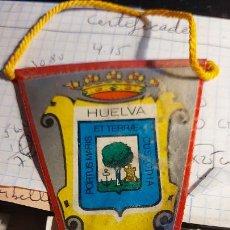 Banderines de colección: BANDERIN DE LA CIUDAD DE HUELVA 11X6CM. Lote 258179960