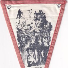 Banderines de colección: BANDERÍN EN TELA RECUERDO DE ESPAÑA PAMPLONA NAVARRA UNOS 20 CM. Lote 262925320
