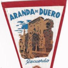 Banderines de colección: BANDERÍN - ARANDA DE DUERO RECUERDO AÑOS 50. Lote 262928060