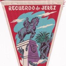 Banderines de colección: BANDERÍN RECUERDO DE JEREZ AÑOS 50. Lote 262929115
