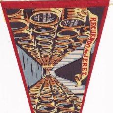 Banderines de colección: BANDERÍN RECUERDO DE JEREZ UNA BODEGA JEREZANA AÑOS 50. Lote 262929345