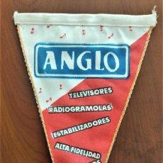 Banderines de colección: PUBLICIDAD BANDERÍN ANGLO, TELEVISORES, RADIOGRAMOLAS, ALTA FIDELIDAD,... EN BUEN ESTADO. Lote 263035505