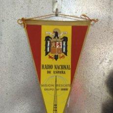 Banderines de colección: BANDERÍN RADIO NACIONAL DE ESPAÑA. MISIÓN RESCATE. GRUPO Nº 167. Lote 263085730