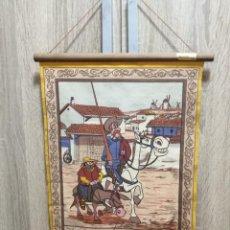 Galhardetes de coleção: CUADRO BANDERIN DON QUIJOTE MARCA DIGOSA ANTIGUO. Lote 268863364
