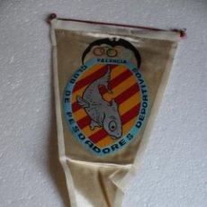 Banderines de colección: BANDERIN COLECCION AÑOS 60 - CLUB DE PESCADORES DEPORTIVOS VALENCIA. Lote 269191168