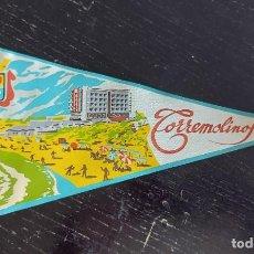 Banderines de colección: ANTIGUO BANDERIN DE TORREMOLINOS - MALAGA - EN PERFECTO ESTADO - 26 CM DE LARGO - MODELO RARO -. Lote 270881623