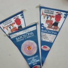 Banderines de colección: BARCELONA FIESTAS DE LA MERCED TRANSMEDITERRANEA 1970 FESTIVALES OTOÑO. Lote 271588068