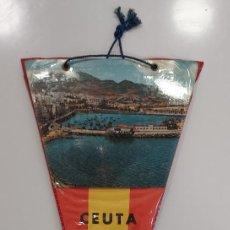 Banderines de colección: BANDERIN CEUTA PUERTO ESCUDO. 15 X 29 CM. Lote 274226033