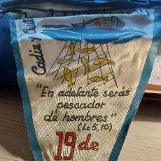 Banderines de colección: BANDERIN DIA DEL SEMINARIO CADIZ Y CEUTA 24CM MIDE DE LARGO. Lote 276219383